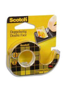 Rouleau adhésif double face transparent 12mmx6m