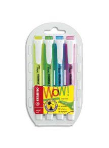 Surligneur Swing Cool pointe biseautée pochette de 4 coloris assortis standard