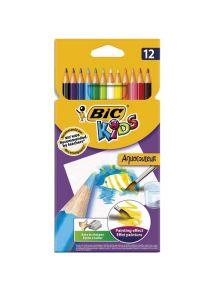 Pochette de 12 crayons de couleur Aquacouleur