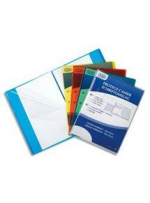 Protège-cahier 17x22 cm, incolore, grands rabats marque page