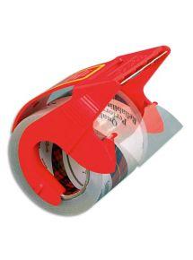 Rouleau et dévidoir d'adhésif d'emballage, format 20mx50mm