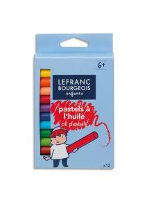 Boîte de 12 pastels à l'huile, couleurs assorties