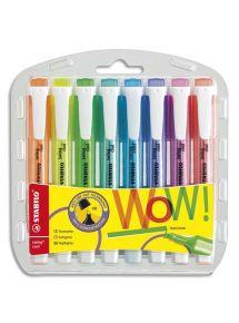 Surligneur Swing Cool pointe biseautée pochette de 8 coloris assortis standard