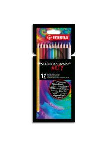 Boîte de 12 crayons de couleur aquarellables, mine 2,8mm