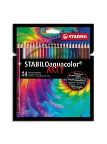Boîte de 24 crayons de couleur aquarellables, mine 2,8mm