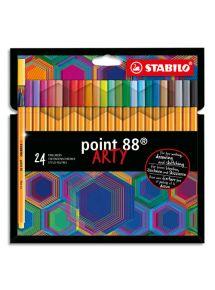 Etui de 24 stylo-feutres Point 88, pointe fine, couleurs assorties