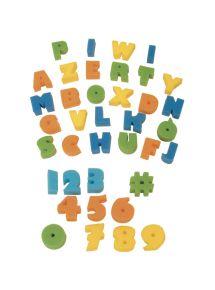 Eponges alphabet et chiffres, sachet de 37