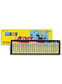 Boîte de 24 pastels à l'huile diamètre 8mm, couleurs assorties
