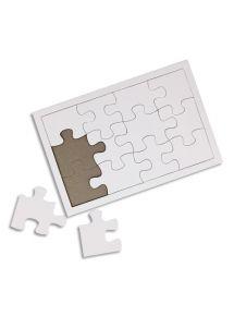 Lot de 10 puzzles blancs en carton à décorer, dimensions 14x21cm