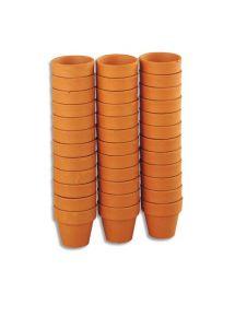 Lot de 36 pots en terre cuite de diamètre 4,5cm à décorer