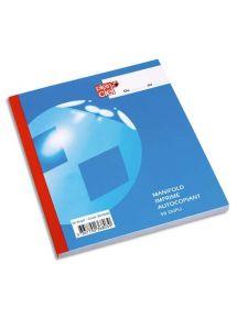 Manifold autocopiants 14x21 cm, 50 pages en double exemplaire