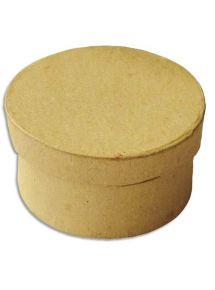Boîte ronde en carton à décorer diamètre 7cm