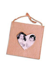 Mini cadre en carton cœur à décorer 7,5x7,5cm