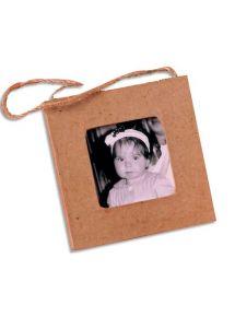 Mini cadre en carton carré à décorer 7,5x7,5cm