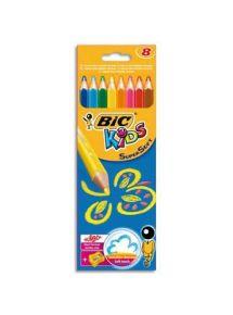 Etui de 8 crayons de couleur SuperSoft + taille-crayon