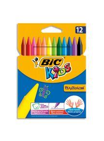 Etui de 12 crayons de couleur plastique Plastidécor