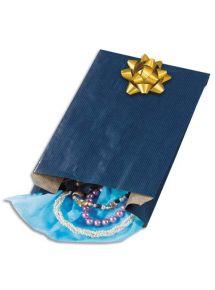 Sachet kraft bleu, format 24x39x7,5 cm, paquet de 250