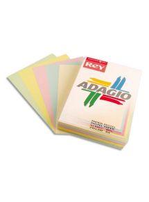Papier A3, ramette de 250 feuilles couleurs assorties pastels et vifs