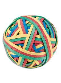 Boule de 180 élastiques couleurs assorties, diamètre 60mm