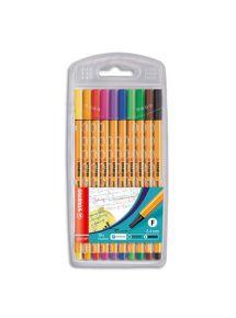 Pochette de 10 stylos feutres Point 88, écriture 0,4mm
