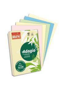 Papier couleur assortie pastels et vives A4 80g, ramette de 500 feuilles