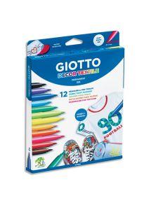 Boîte de 12 feutres pour tissu Giotto