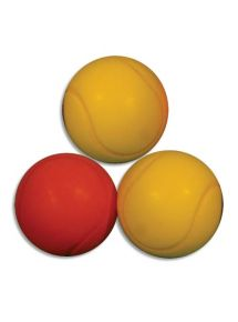 Lot de 3 balles de tennis en mousse ø7cm