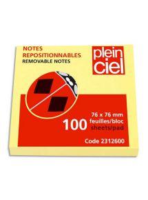 Bloc jaune Plein Ciel format 76x76 mm, 100 feuilles