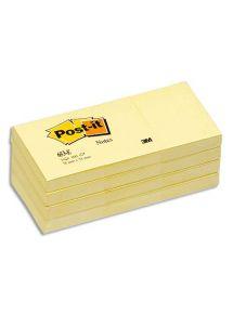 Bloc Post-it Jaune format 38x51 mm, lot de 12 blocs