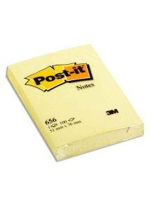 Bloc Post-it jaune format 51x76 mm