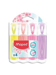 Surligneur Fluo Peps Classic, pochette de 4 couleurs assorties pastels