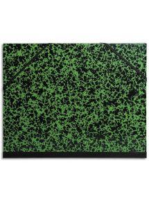 Carton à dessin Annonay vert à élastiques format 37x52 cm