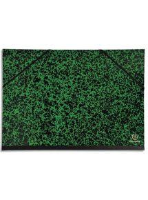Carton à dessin Annonay vert à élastiques format 32x45 cm