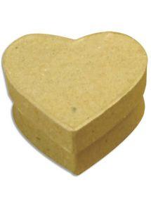 Boîte cœur en carton à décorer 10,3x6,8cm