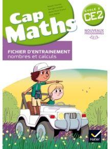 Cap maths CE2, Fichier d'entraînement + cahier de géométrie + Dico maths, Programme 2016
