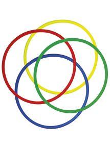Lot de 4 cerceaux ronds diamètre 65 cm, couleurs assorties