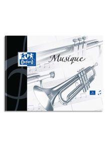 Cahier de musique 17x22 cm, 48p (24 séyès + 24 musique)