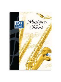 Cahier de musique 21x29,7 cm, 48p (24 séyès + 24 musique)