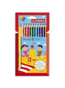 Pochette de 12 crayons de couleur Trio Stabilo, gros module