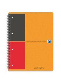 Cahier ActiveBook 21x31,8 cm, 160p perforées détachables, lignée 6mm