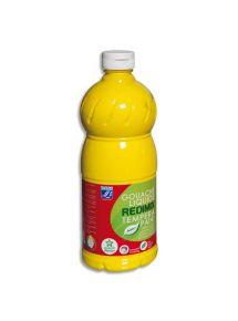 Gouache Color & Co, flacon de 1l, jaune primaire