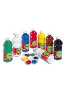Gouache Color & Co, lot de 8 flacons de 1l assortis