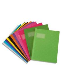 Protège-cahier 17x22 cm, plastique éco, rouge (paquet 25)