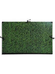 Carton à dessin Annonay vert à rubans format 67x94 cm