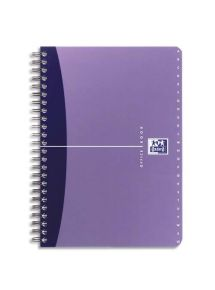 Répertoire polypro 11x17 cm, 180 pages, ligné 6mm, spirale, 90g