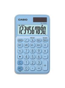 Calculatrice de poche Casio 10 chiffres bleue clair