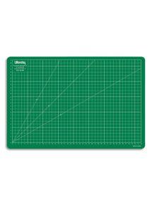 Plaque de découpe en PVC, format 30x45 cm, 1 face quadrillée
