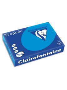Papier bleu turquoise 160g A4 Trophée, ramette de250 feuilles