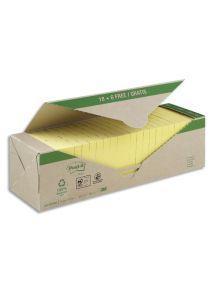 Bloc jaune Post-it format 76x76mm, pack de 24 blocs de 100 feuilles