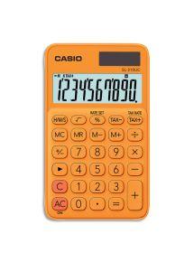 Calculatrice de poche Casio 10 chiffres orange